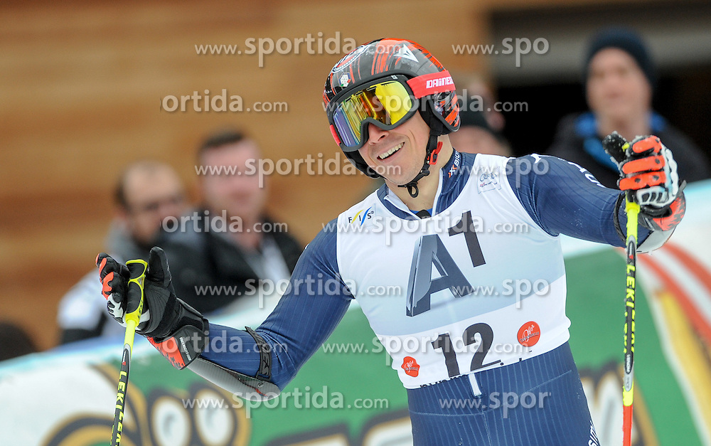 28.02.2016, Hannes Trinkl Rennstrecke, Hinterstoder, AUT, FIS Weltcup Ski Alpin, Hinterstoder, Riesenslalom, Herren, 2. Lauf, im Bild Florian Eisath (ITA) // Florian Eisath of Italy reacts after his 2nd run of men's Giant Slalom of Hinterstoder FIS Ski Alpine World Cup at the Hannes Trinkl Rennstrecke in Hinterstoder, Austria on 2016/02/28. EXPA Pictures © 2016, PhotoCredit: EXPA/ Erich Spiess