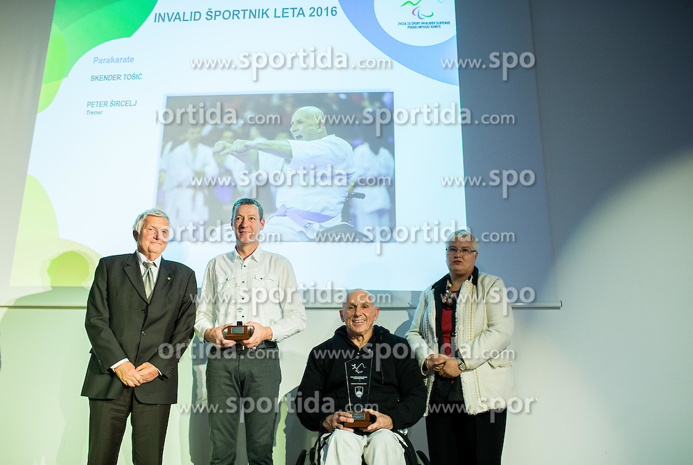Peter Sircelj and Skender Tosic during Slovenian Disabled Sports personality of the year 2016 event, on December 15, 2016 in Austria Trend Hotel, Ljubljana, Slovenia. Photo by Vid Ponikvar / Sportida