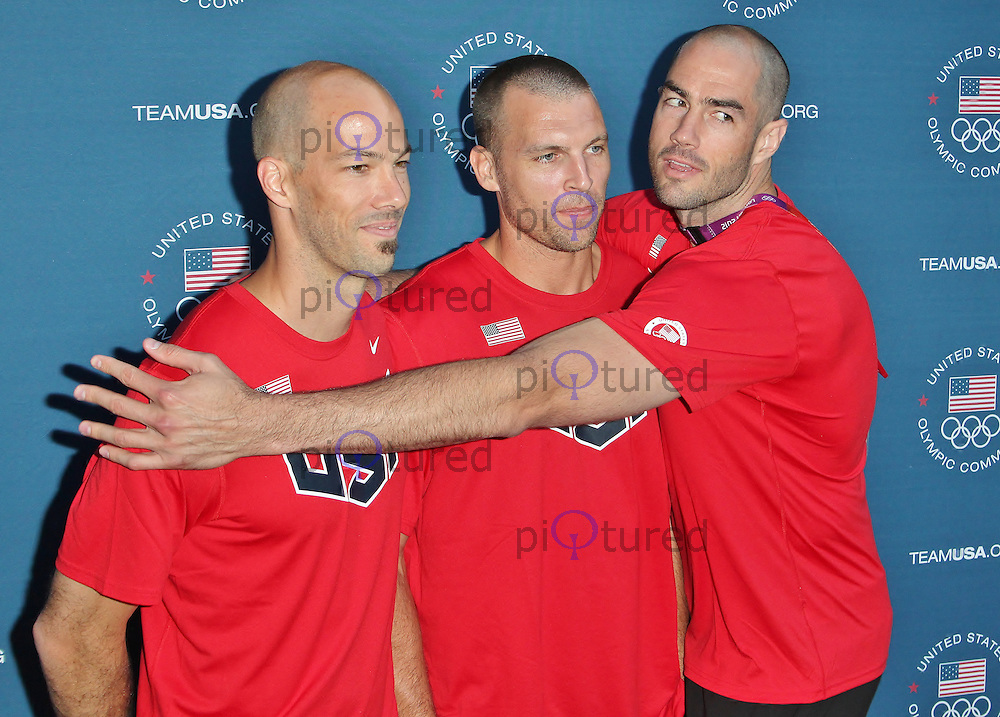 LONDON - July 26: Clayton Stanley, Ried Priddy & Richard Lambourne at the U.S. Olympic Committee Benefit Gala (Photo by Brett D. Cove)