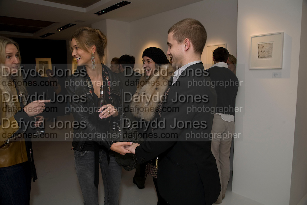 ROSIE HUNTINGDON-WHITLEY; TYRONE WOOD, Elaine Ferguson. ' Texas Blues'. Scream Gallery. Bruton St. London. 11 December 2008 *** Local Caption *** -DO NOT ARCHIVE -Copyright Photograph by Dafydd Jones. 248 Clapham Rd. London SW9 0PZ. Tel 0207 820 0771. www.dafjones.com<br /> ROSIE HUNTINGDON-WHITLEY; TYRONE WOOD, Elaine Ferguson. ' Texas Blues'. Scream Gallery. Bruton St. London. 11 December 2008