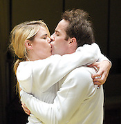 The Effect <br /> by Lucy Prebble<br /> at The Cottesloe Theatre, National Theatre, Southbank, London, Great Britain <br /> <br /> press photocall<br /> 12th November 2012 <br /> <br /> Billie Piper as Connie<br /> Jonjo O'Neill as Tristan<br /> Anastasia Hille as Dr James<br /> Tom Goodman-Hill as Toby <br /> <br /> Photograph by Elliott Franks