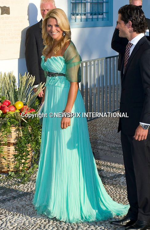 "Princess Madeleine and Prince Carl Philip_.The Wedding of Prince Nikolaos and Tatiana Blatnik attended by many members of European Royalty at St Nikolaos Church on the Island of Spetses_Grecce_24/08/2010.Mandatory Credit Photo: ©DIAS-NEWSPIX INTERNATIONAL..**ALL FEES PAYABLE TO: ""NEWSPIX INTERNATIONAL""**..IMMEDIATE CONFIRMATION OF USAGE REQUIRED:.Newspix International, 31 Chinnery Hill, Bishop's Stortford, ENGLAND CM23 3PS.Tel:+441279 324672  ; Fax: +441279656877.Mobile:  07775681153.e-mail: info@newspixinternational.co.uk"