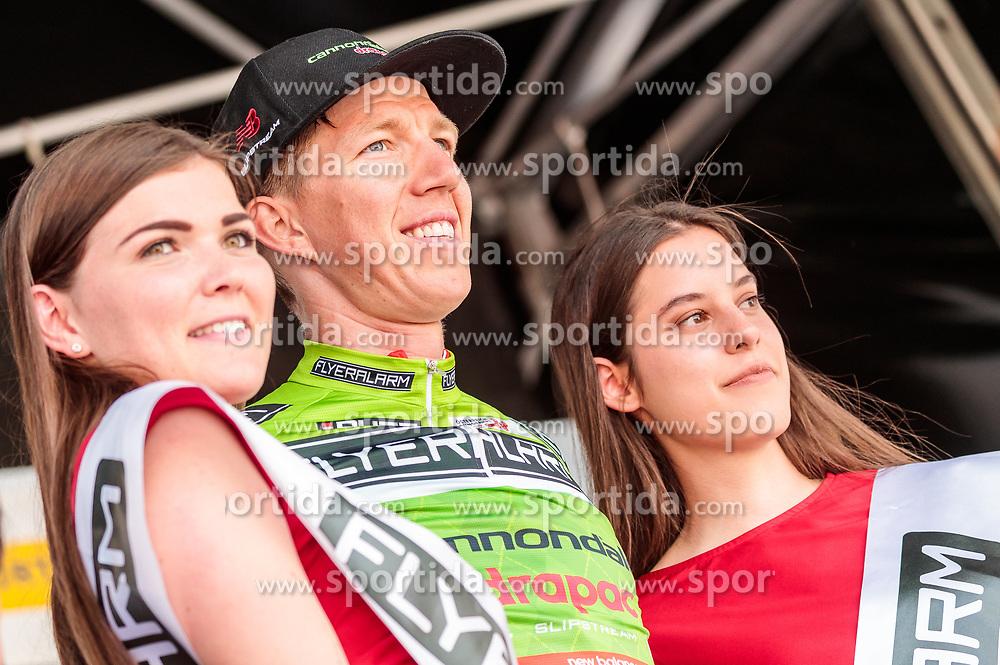 04.07.2017, Pöggstall, AUT, Ö-Tour, Österreich Radrundfahrt 2017, 2. Etappe von Wien nach Pöggstall (199,6km), Siegerehrung, im Bild Sep Vanmarcke (BEL, Cannondale Drapac Professional Cycling Team) // on podium during the 2nd stage from Vienna to Pöggstall (199,6km) of 2017 Tour of Austria. Pöggstall, Austria on 2017/07/04. EXPA Pictures © 2017, PhotoCredit: EXPA/ JFK