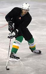 Jure Kralj at second ice hockey practice of HDD Tilia Olimpija on ice in the new season 2008/2009, on August 19, 2008 in Hala Tivoli, Ljubljana, Slovenia. (Photo by Vid Ponikvar / Sportal Images)