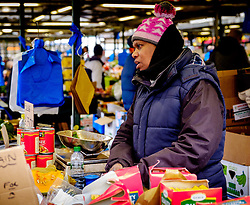 A stallholder in the Bullring Street Market in Birmingham, England, UK<br /> <br /> (c) Andrew Wilson | Edinburgh Elite media
