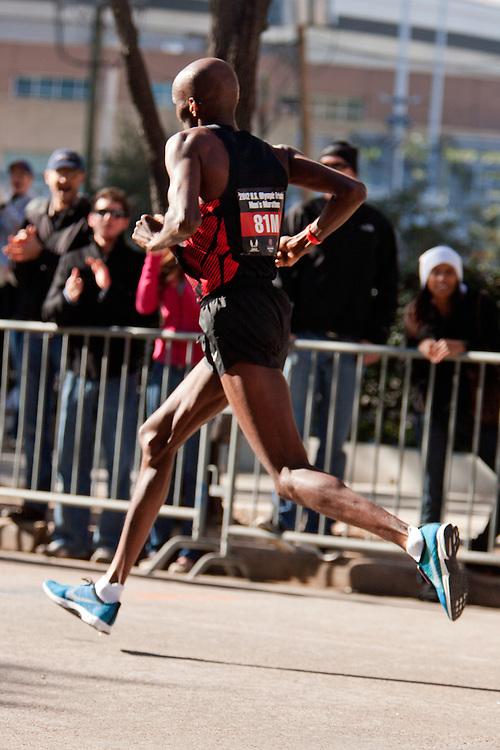 Abdi Abdirahman with quarter mile to go in men's marathon, finishes 3rd