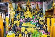 30 SEPTEMBER 2012 - BANGKOK, THAILAND: A Buddha at the Shiva Temple in the Raminthra neighborhood of Bangkok, Thailand. The temple is popular with Bangkok's Indian community.      PHOTO BY JACK KURTZ