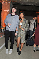 ALUNA FRANCIS and GEORGE REID aka AlunaGeorge at a dinner hosted by Jonathan Saunders, Fantastic Man & Selfridges to celebrate Jonathan Saunders AW13 Menswear collection and London Collections held at the Old Selfridges Hotel,  Orchard Street, London on 8th January 2013.