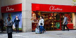 © Licensed to London News Pictures. 11/11/2019. London, UK. Members of public walk past Clintons card store in City of London. Clintons are shutting down one in five of its stores with fears growing that the greeting card chain is on the brink of collapse, putting 2,500 jobs at risk. Photo credit: Dinendra Haria/LNP