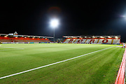 The Laxex Stadium ready for the EFL Sky Bet League 2 match between Stevenage and Coventry City at the Lamex Stadium, Stevenage, England on 21 November 2017. Photo by Matt Bristow.
