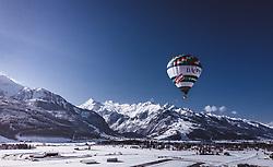 04.02.2019, Zell am See - Kaprun, AUT, BalloonAlps, im Bild ein Heissluftballon über Kaprun mit dem Kitzsteinhorn Gletscher // a hot-air balloon above Kaprun with the Kitzsteinhorn Glacier during the International Balloonalps Alps Crossing Event, Zell am See Kaprun, Austria on 2019/02/04. EXPA Pictures © 2019, PhotoCredit: EXPA/ JFK