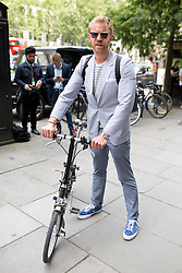 © Licensed to London News Pictures. 10/06/2016. London, UK. Alistair Guy arrives at the opening for London Collections Men at 180 The Strand. Photo credit : Tom Nicholson/LNP