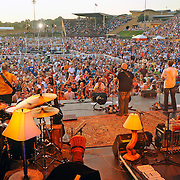 The Zac Brown Band performs for a sold out capacity crowd of 15,000 during Saturday's Fun Fest Sunset Concert Series show at J. Fred Johnson Stadium.