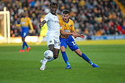 Will Atkinson (11) passes the ball during the EFL Sky Bet League 2 second leg Play Off match between Mansfield Town and Newport County at the One Call Stadium, Mansfield, England on 12 May 2019.