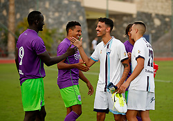 Famara Diedhiou of Bristol City shakes hands with the opposition at full time - Mandatory by-line: Matt McNulty/JMP - 22/07/2017 - FOOTBALL - Tenerife Top Training - Costa Adeje, Tenerife - Bristol City v Atletico Union Guimar  - Pre-Season Friendly