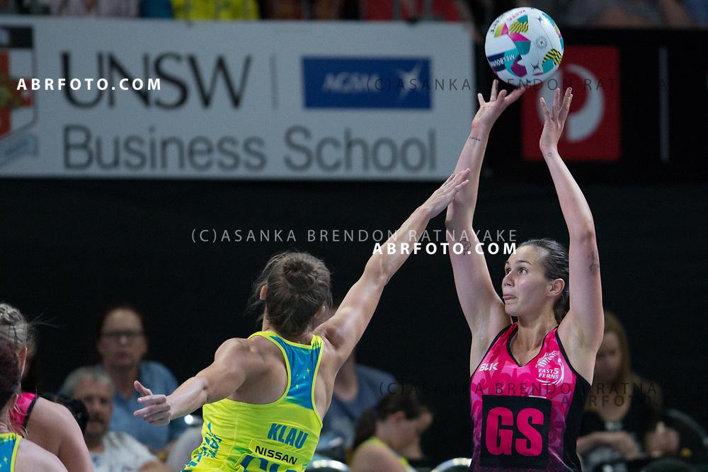 Ameliaranne Ekenasio during the Fast5 Netball 3rd Vs 4th match between New Zealand Silver Ferns and Australia at Hisense Arena Melbourne Australia. Sunday 29th October 2017. Copyright Photo. Brendon Ratnayake / www.photosport.nz