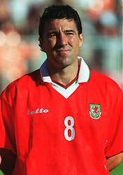 MINSK, BELARUS - Saturday, September 4, 1999: Wales' Dean Saunders before the UEFA Euro 2000 Qualifying Group One match against Belarus at the Dinamo Stadium. (Mandatory credit: David Rawcliffe/Propaganda)