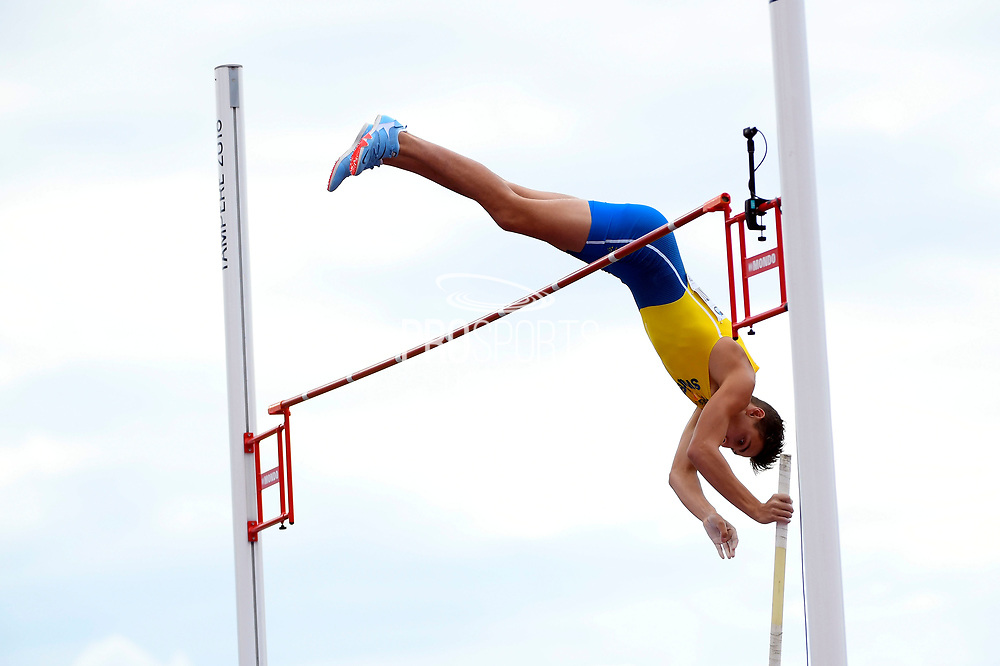 Armand Duplantis (SWE) competes in Pole Vault Men during the IAAF World U20 Championships 2018 at Tampere in Finland, Day 2, on July 11, 2018 - Photo Julien Crosnier / KMSP / ProSportsImages / DPPI