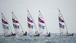 2012 Olympic Games London / Weymouth<br /> Racing day 1 Laser<br /> <br /> Radial Fleet after the start