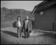 Iitate Farmer and girlfriend  at neighbors farm Fukushima  Contaminated Evacuation Zone IItate.  Iitate is a town 25 to 40 km from the  Daiichi Plant that was heavily contaminated but not evacuated until  months after the Disaster.