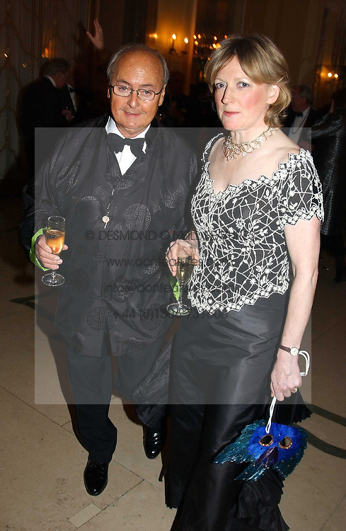 NED RYAN and DIANA BERRY at 'A Rout' an evening of late evening party, essentially of revellers in aid of the Great Ormond Street Hospital Children's Charity and held at Claridge's, Brook Street, London W1 on 25th January 2005.<br /><br />NON EXCLUSIVE - WORLD RIGHTS