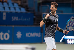 Aljaz Bedene of Slovenia playing Singles in Quarter - Final of ATP Challenger Zavarovalnica Sava Slovenia Open 2019, day 8, on August 16, 2019 in Sports centre, Portoroz/Portorose, Slovenia. Photo by Nik Moder / Sportida