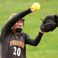 Fredonia's Hannah Cybart on the mound against Southwestern 5-11-16 photo by Mark L. Anderson