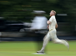 November 2, 2018 - Colombo, Sri Lanka - (In this panned photograph) England cricketer Ben Stokes runs in to  deliver a ball  during the match between Sri Lanka Board XI and England at the CCC ground, Colombo, Sri Lanka. Friday 2 , November 2018  (Credit Image: © Tharaka Basnayaka/NurPhoto via ZUMA Press)