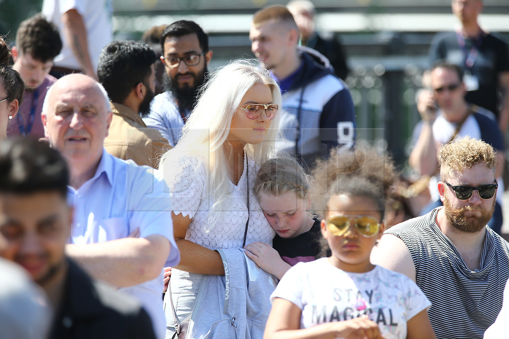 © Licensed to London News Pictures. 22/05/2018. Manchester, UK. Picture shows the one minute in Manchester during the memorial service at Manchester cathedral. Today marks the first anniversary of the Manchester Arena bombing. 22 people died when Salman Abedi detonated a bomb at an Ariana Grande concert. Photo credit: Andrew McCaren/LNP