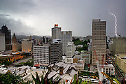 Brisbane, a tropical city, has heavy thunderstorms almost every afternoon in the summer. Shown here is a view of the surrounding area. Hungry Planet: What the World Eats (p. 25).  This image is featured alongside the Brown family images in Hungry Planet: What the World Eats.
