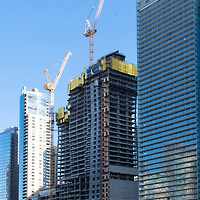 Chicago's Vista Tower under construction in early 2018, developed by China's Dalian Wanda Group.