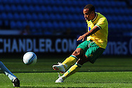 Picture by Alex Broadway/Focus Images Ltd.  07905 628187.30/7/11.Elliott Bennett of Norwich City scores during a pre season friendly at The Ricoh Arena, Coventry.