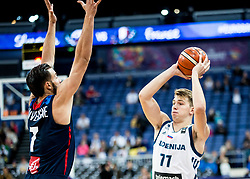 Luka Doncic of Slovenia during basketball match between National Teams of Slovenia and France at Day 7 of the FIBA EuroBasket 2017 at Hartwall Arena in Helsinki, Finland on September 6, 2017. Photo by Vid Ponikvar / Sportida