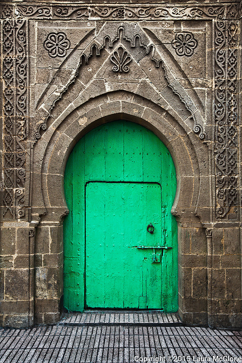 Green Doorway, Morocco