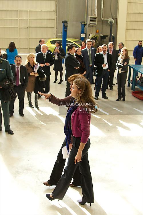 "Princess Letizia attends the Visit the Integrated Training Center ""Professor Rau?l Va?zquez in Madrid"