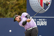 Andrew 'Beef' Johnston of England tees off on the 6th during the British Masters 2018 at Walton Heath Golf Course, Walton On the Hill, Surrey  on 11 October 2018. Picture by Martin Cole.