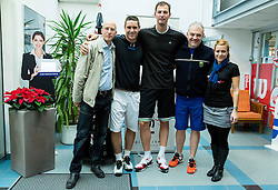 Robert Kukovica, Gregor Krusic, Primoz Brezec, Miha Istenic and Lea Stumberger at Istenic doubles Tournament and Slovenian Tennis personality of the year 2014 annual awards presented by Slovene Tennis Association TZS , on December 6, 2014 in Millenium Centre, BTC, Ljubljana, Slovenia. Photo by Vid Ponikvar / Sportida