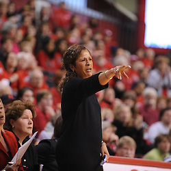 Jan 31, 2009; Piscataway, NJ, USA; Rutgers head coach \C. Vivian Stringer instructs her players during the closing moments of South Florida's 59-56 victory over Rutgers in NCAA women's college basketball at the Louis Brown Athletic Center