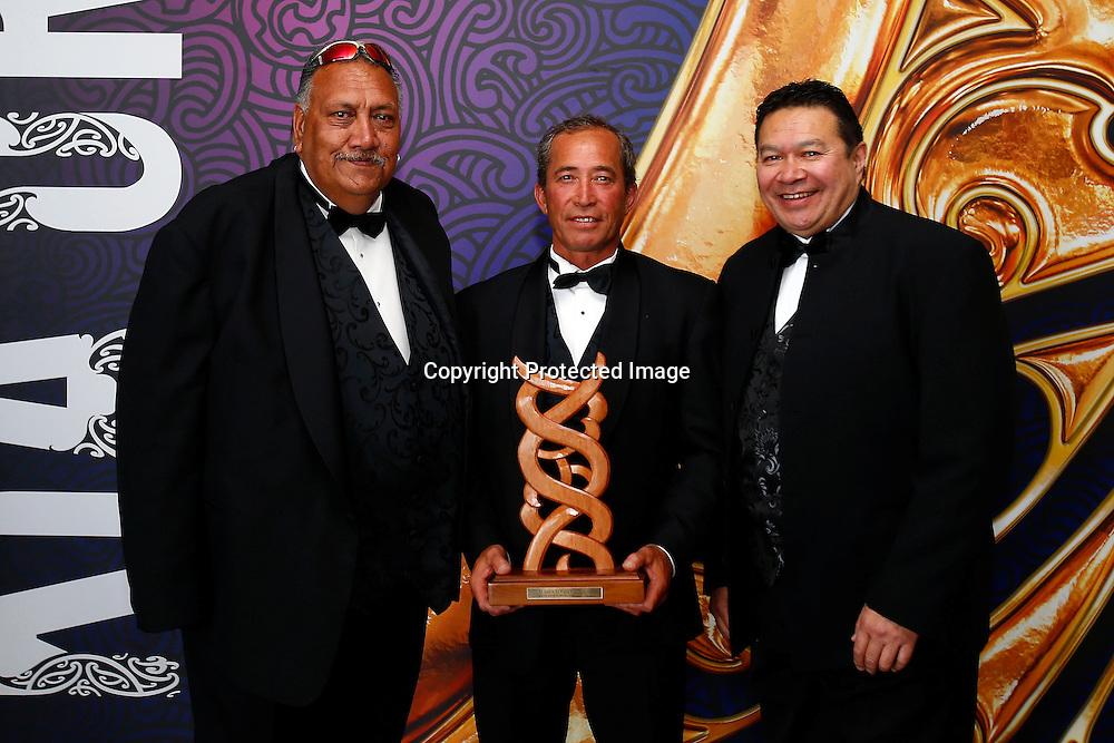 Radio Ngati Porou is awarded with the Maori Sports Media award. Maori Sports Awards, Telstra Pacific Events Centre Manukau, Saturday 24th November 2012. Photo: Shane Wenzlick / Photosport.co.nz