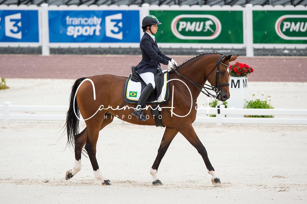Elisa Melaranci, (BRA), Zabelle - Individual Test Grade II Para Dressage - Alltech FEI World Equestrian Games™ 2014 - Normandy, France.<br /> © Hippo Foto Team - Jon Stroud <br /> 25/06/14