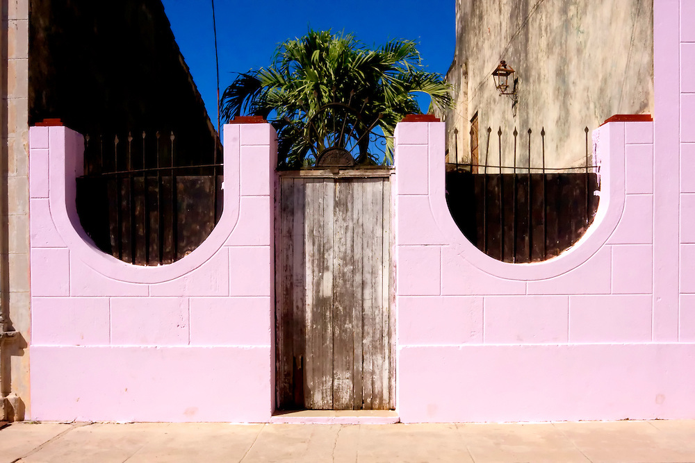Pink fence in Cardenas, Matanzas, Cuba.