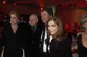 Catherine Deneuve; Pierre Berge; Jack Lang; Isabelle Huppert. The Sidaction Party raising funds to treat AIDS, held during Haute Couture week  Spring/Summer 2006 at the Pavillon D'Armenonville, Bois de Boulogne.  Paris.  January 25 2006.  ONE TIME USE ONLY - DO NOT ARCHIVE  © Copyright Photograph by Dafydd Jones 66 Stockwell Park Rd. London SW9 0DA Tel 020 7733 0108 www.dafjones.com