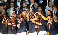 Victoire France - Odsonne Edouard / Timothe Cognat / Dayot Upamecano /  Alec Georgen - 22.05.2015 - Allemagne / France - Finale Championnats d'Europe U17 - Burgas -Bulgarie<br />Photo : Aleksandar Djorovic / Icon Sport