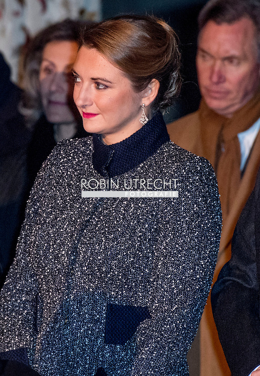 8-12-2016 Luxembourg - Jean, Grand Duke of Luxembourg , Henri, Grand Duke of Luxembourg , Maria Teresa, Grand Duchess of Luxembourg , Prince F&eacute;lix of Luxembourg and Princess Claire in the royals palace . The Luxembourg royal decree Thursday with a sound and light show of the year-long celebration of the 125th anniversary of the Luxembourg dynasty Nassau. On the facade of the Grand Ducal Palace photos and images projected that tell the history of the Luxembourg monarchy. COPYRIGHT ROBIN UTRECHT<br /> <br /> 8-12-2016 Luxemburg - groot hertog Jan van Luxemburg, Hendrik van Luxemburg, Maria Teresa, Groothertogin van Luxemburg, prins F&eacute;lix van Luxemburg en Prinses Claire in de royals paleis. Het Luxemburgse vorstenhuis besluit donderdag met een geluids- en lichtshow de jaarlange viering van het 125-jarig bestaan van de dynastie Luxemburg-Nassau. Op de gevel van het groothertogelijk paleis worden foto's en afbeeldingen geprojecteerd die de historie vertellen van de Luxemburgse monarchie. COPYRIGHT ROBIN UTRECHT COPYRIGHT ROBIN UTRECHT