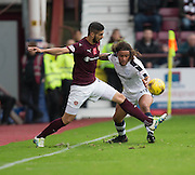Hearts&rsquo; Igor Rossi and Dundee&rsquo;s Yordi Teijsse - Hearts v Dundee, Ladbrokes Scottish Premiership at Tynecastle, Edinburgh. Photo: David Young<br /> <br />  - &copy; David Young - www.davidyoungphoto.co.uk - email: davidyoungphoto@gmail.com