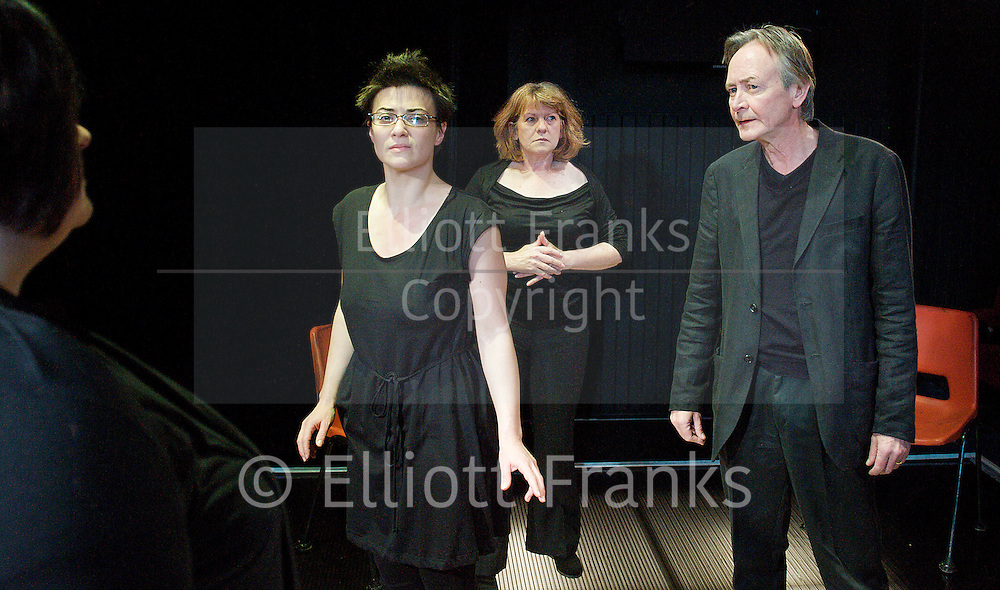 Denial <br /> by Arnold Wesker<br /> at The King's Head Theatre, London, Great Britain <br /> press photocall<br /> 16th May 2012 <br /> <br /> <br /> Shelley Lang (as Abigail Young)<br /> <br /> Clare Cameron (as Jenny Young)<br /> <br /> Stephanie Beattie (as Karen Young)<br /> <br /> Nicholas Gecks (as Matthew Young)<br /> <br /> Maggie Daniels (as Sandy Cornwall)<br /> <br /> Sally Plumb (as Valerie Morgan)<br /> <br /> John Bromley (as Ziggy Landsman)<br />  <br /> <br /> Photograph by Elliott Franks