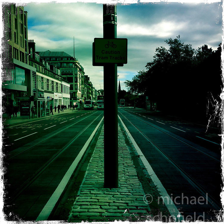 Princes Street, Edinburgh..Hipstamatic images taken on an Apple iPhone..©Michael Schofield.