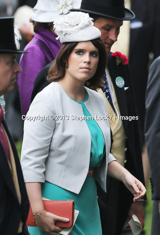 Princess Eugenie at Ladies Day at Royal Ascot 2013, Thursday, 20th June 2013<br /> Picture by Stephen Lock / i-Images