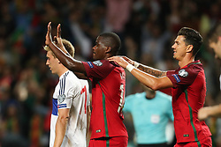 August 31, 2017 - Porto, Porto, Portugal - Portugal's midfielder William Carvalho (L) celebrates after scoring a goal during the FIFA World Cup Russia 2018 qualifier match between Portugal and Faroe Islands at Bessa Sec XXI Stadium on August 31, 2017 in Porto, Portugal. (Credit Image: © Dpi/NurPhoto via ZUMA Press)