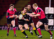 Photo - Peter Spurrier.13/01/2003.Parker Pen Shield European Rugby - Saracens v Newcastle.Jamie Noon attacks on the wing